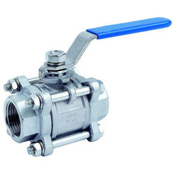 Stainless Steel Screwed Ball Valve, Size: 15 Mm