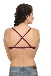 Cross Back Padded Bra