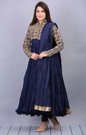 15351243e7 Party wear Indigo Anarkali Cotton Suit - BIba Appreal , Delhi | ID ...
