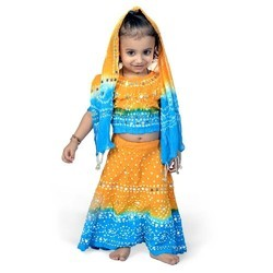 Girls Jaipuri Lehenga Choli Set 115D