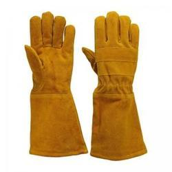 Cuff Type Men Leather Gloves, Packaging Type: Single, Size: Medium