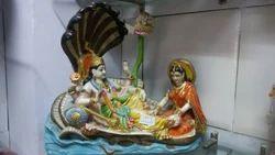Vishnu Laxmi Resting on Naag