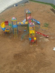 4 Pillar Multi Play Systems With Spiral Slide