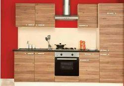 Modern Wooden Membrane Melamine Modular Kitchen