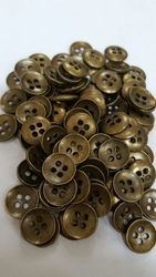 Round Metal Button, For Garments
