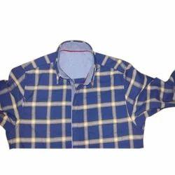 Casual 100% Cotton Designer Check Shirt