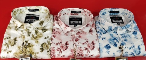 Multi Color Cotton/Linen Mens Casual Shirts