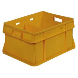 Yellow Dairy Plastic Crates
