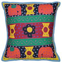 Indian Embroidery Cotton Sofa Cushion Cover