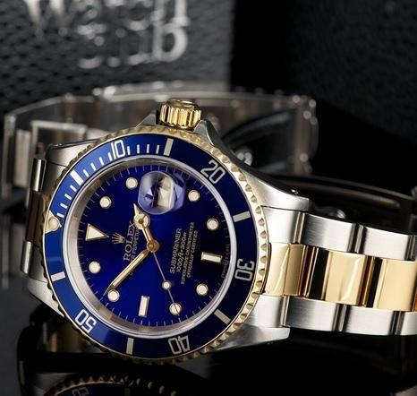 1c85801573f Rolex Watches - Rolex Oyster Blue Dail Watch Wholesale Trader from Surat