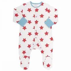 Cotton Unisex Infant Sleep Suits