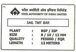 Sail TMT Bar Tag For Consignment Agents