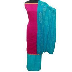 Plain Chanderi Suit