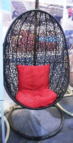 Global Corporation Metal Black And Red Garden Swing Chair
