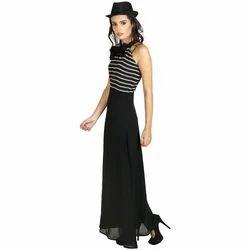 Bold Black Stripe Woman Dresses