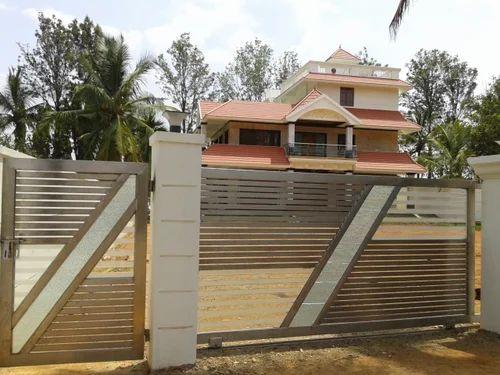 Stainless Steel Sliding Gate, Remote Control Gates | Bellandur ...