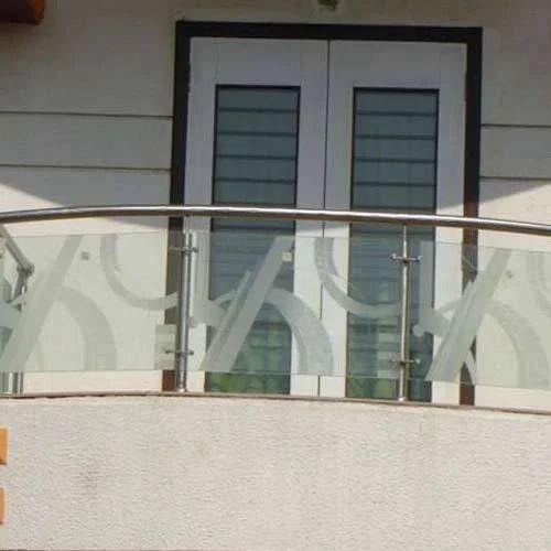 Ss Balcony Glass Railing स ट नल स स ट ल ब लकन