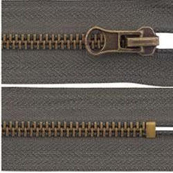 Brass Zippers