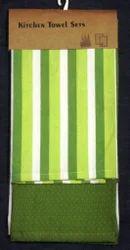 Green Striped Kitchen Towel