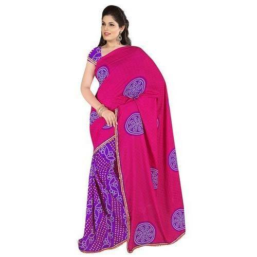 033c5284d5 Fancy Bandhani Saree at Rs 700 /piece | Bandhani Saree - Nirmalam ...