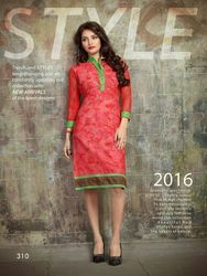 Straight Cut Printed Cambric Cotton Kurti
