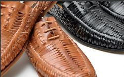 Mens Woven Leather Shoes