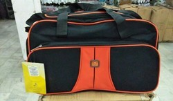 Polyester Black Travelling Bags, Size: 24 Inch