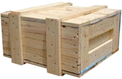 Brown Wood Wooden Box, for Packaging, Capacity: 2.5-5 Tons