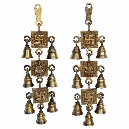 Laxmi Ganesha Swastik Hanging Bells For Your Door U0026 Home Decor