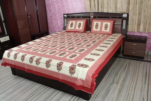 Indian Bedspread Block Print Bed Sheet