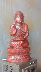 Red Sandal Wood Buddha Tibati