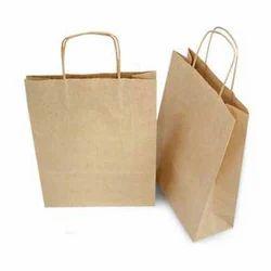 Brown Plain Handmade Paper Bags, for Shopping