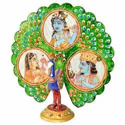 Meena Dancing Peacock With Figure Work