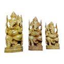 White Wood Ganesh God Statues