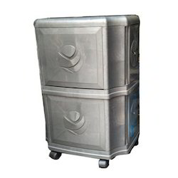 Plastic Silver Double Battery Inverter Trolley