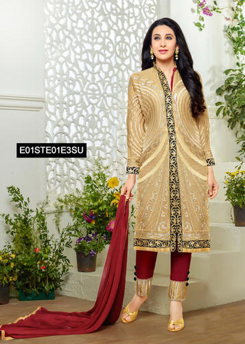 d1ab82a3e7 Heavy Straight Cut Suit at Rs 1295 /piece(s) | Semi Stitched Suits ...