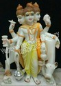 White Marble Lord Dattatreya Statue