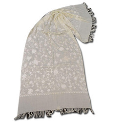Merino Wool Jally Embroidery Scarves