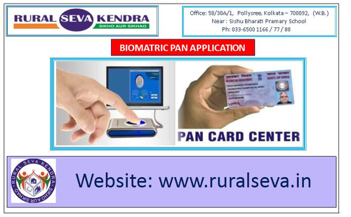 Biometric Based PAN Center and PAN Registration Services