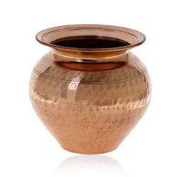 Plain Round Copper Hammered Lota, for Pujas and Hawan