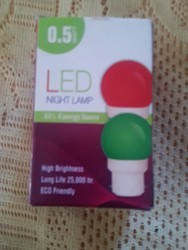 Cool White LED Night Bulb, 0.5W