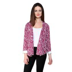 Ladies Casual Printed Blazer