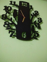 Black Acrolic Designer Wall Clock