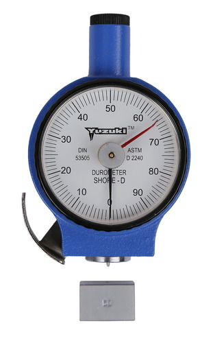 Yuzuki Shore D Rubber Hardness Tester Durometer, Dimension: 7 Cm X 5 Cm X 5  Cm, | ID: 12431829397