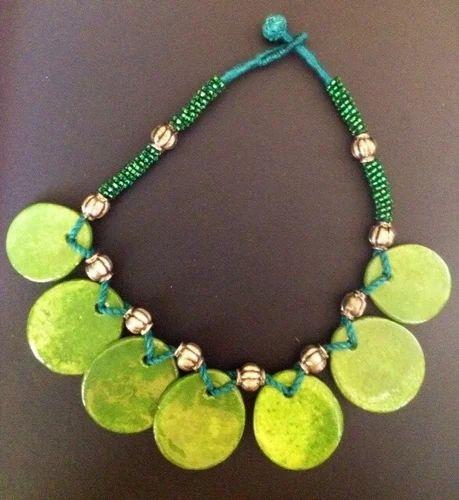 7 Pendant Pottery Necklace