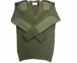Khaki Full Sleeves Sweater, Size: Free