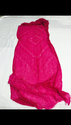 100% Cotton Hand Block Fabric Pink Color