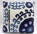 Printed Multicolor Wool Embroidered Cushion Cover, Packaging Type: Poly Pack, Size: 45 X 45 Cm
