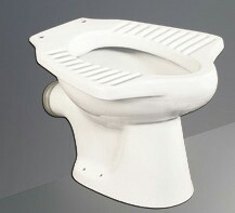 White Anglo India- P Type Toilet Seat