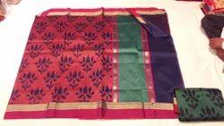 Designer Weaving Kora Silk Saree